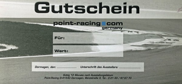 Point Racing Gutschein