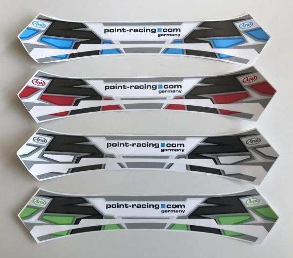 Point Racing Visieraufkleber für ARAI 6er Serie